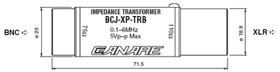 BCJ-XP-TRB Dimension